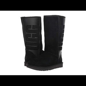 UGG, the Classic Tall UGG Rubber Boots feature.